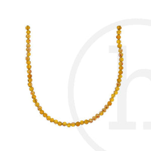 Glass Beads Faceted Round Light Amber Ab Finish