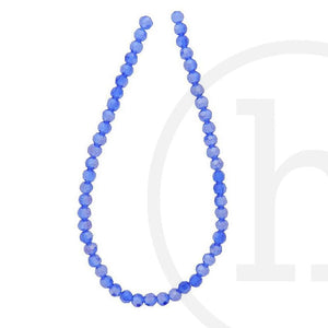 Glass Beads, Glass, Beads, Glass, Sapphire, Blue, AB, Faceted, Round, 4mm, 6mm, 8mm