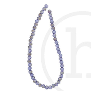 Glass Beads Faceted Round Lavender Ab Finish