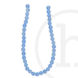 Glass Beads Faceted Round Light SapphireBeads by Halcraft Collection