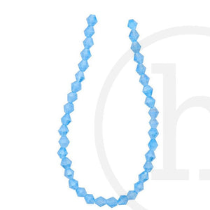 Cuentas de vidrio facetadas Bicone Aqua Ab FinishBeads de Halcraft Collection