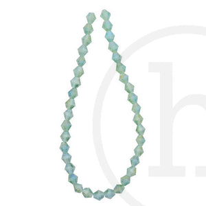 Glass Beads Faceted Bicone Light Green Ab FinishBeads by Halcraft Collection