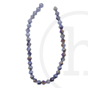 Glass Beads Faceted Bicone Amethyst Ab Finish