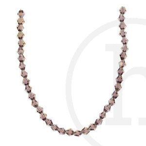 Glass Beads Faceted Bicone Lavender Ab Finish