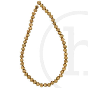 Glass Beads Faceted Round Copper IrisBeads by Halcraft Collection