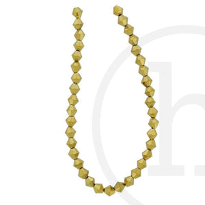 Glass Beads Faceted Bicone Gold Iris