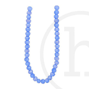 Glass Beads Faceted Round Sapphire Ab Finish