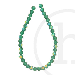 Glass Beads, Glass, Beads, Glass, Ocean Green, Green, AB, Faceted, Round, 6mm