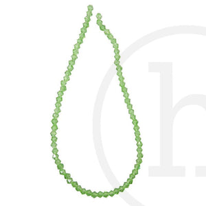 Glass Beads Faceted Bicone Grass GreenBeads by Halcraft Collection