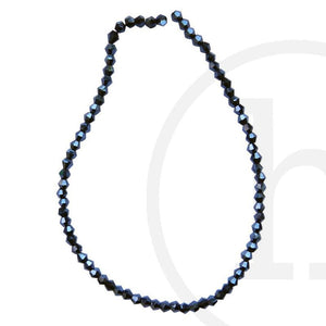 Glass Beads Faceted Bicone Black Luster