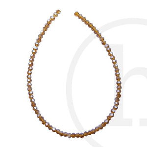 Glass Beads Faceted Bicone Amber Luster