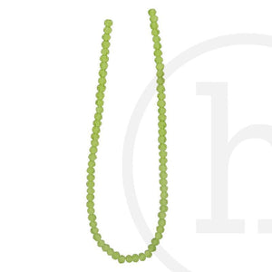Glass Beads Faceted Round Olive