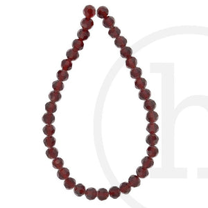 Glass Beads Faceted Round Dark RedBeads by Halcraft Collection