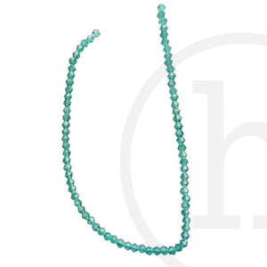 Glass Beads Faceted Bicone Ocean GreenBeads by Halcraft Collection