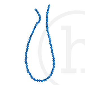 Glass Beads Faceted Bicone Sapphire IrisBeads by Halcraft Collection