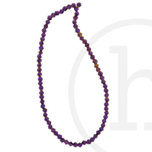 Glass Beads Faceted Bicone Amethyst Iris
