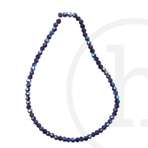 Glass Beads, Glass, Beads, Glass, Amethyst, Lavender, Purple, AB, Faceted, Bicone, 3mm, 4mm, 6mm