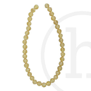 Glass Beads Faceted Round Gold Champagne Ab Finish