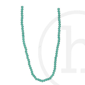Glass Beads Faceted Round Ocean Green