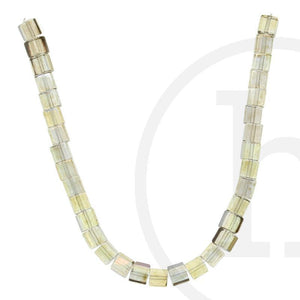 Glass Beads, Glass, Beads, Glass, Light Champagne, AB, Cube, 6mm