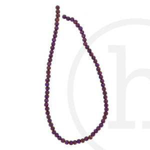 Glass Beads Faceted Round Amethyst Iris