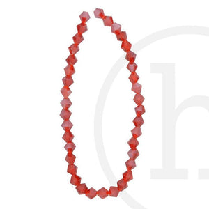 Glass Beads Faceted Bicone Red LusterBeads by Halcraft Collection