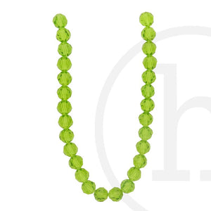 Glass Beads Faceted Round OliveBeads by Halcraft Collection