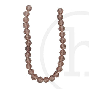 Glass Beads Faceted Round Light AmethystBeads by Halcraft Collection
