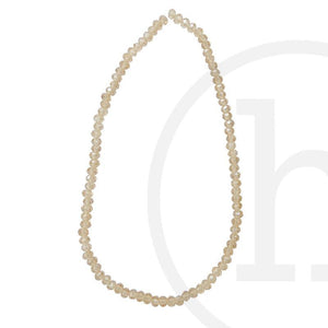 Glass Beads Faceted Rondell Gold Champagne Luster