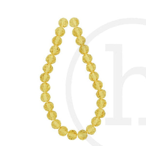 Glass Beads Faceted Round Topaz