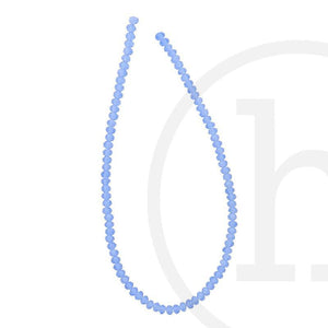 Glass Beads Faceted Rondell LightSapphire Luster