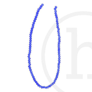Glass Beads Faceted Rondell Dark Sapphire LusterBeads by Halcraft Collection