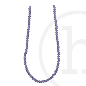 Glass Beads Faceted Rondell Amethyst Luster