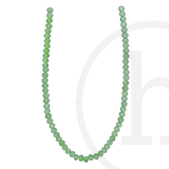 Glass Beads Faceted Rondell Olivene Luster