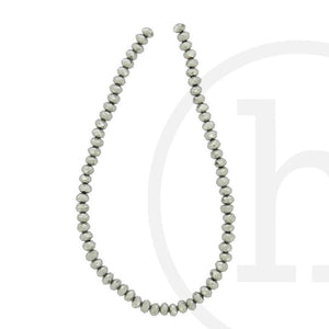 Glass Beads Faceted Rondell Silver IrisBeads by Halcraft Collection