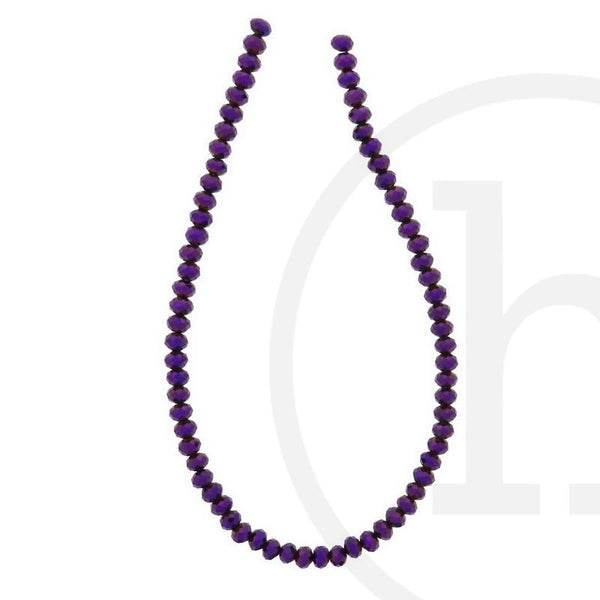 Glass Beads Faceted Rondell Amethyst Iris