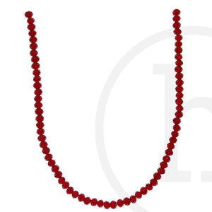 Glass Beads Faceted Rondell Dark RedBeads by Halcraft Collection