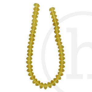 Glass Beads Rondell Topaz LusterBeads by Halcraft Collection