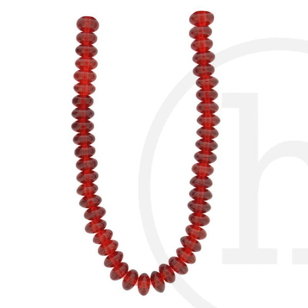 Glass Beads, Glass, Beads, Glass, Dark Red, Ruby, Rondell, 5x8mm, 5mm, 8mm