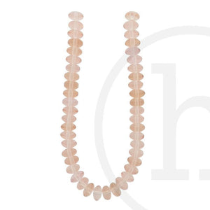 Glass Beads Rondell Peach