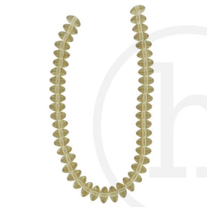 Glass Beads Rondell Light Champagne