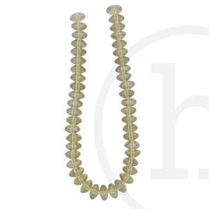 Glass Beads Rondell Light Champagne Luster