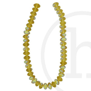 Glass Beads, Glass, Beads, Glass, Gold,  Topaz, AB, Rondell, 5x8mm, 5mm, 8mm