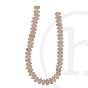 Glass Beads Rondell Peach Ab FinishBeads by Halcraft Collection