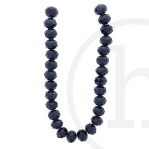 Glass Beads, Glass, Beads, Glass, Black, Faceted, Rondell, 8x10mm, 8mm, 10mm