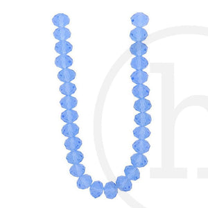 Glass Beads Faceted Rondell LightSapphire