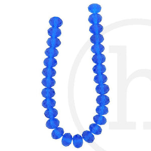 Glass Beads Faceted Rondell Sapphire
