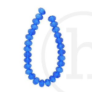 Glass Beads Faceted Rondell Sapphire LusterBeads by Halcraft Collection