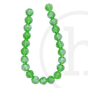 Glass Beads Faceted Round(32 Facets) Grass Green Luster