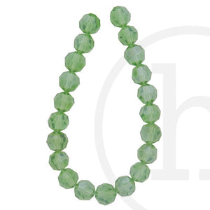 Glass Beads Faceted Round(32 Facets) Olive Luster